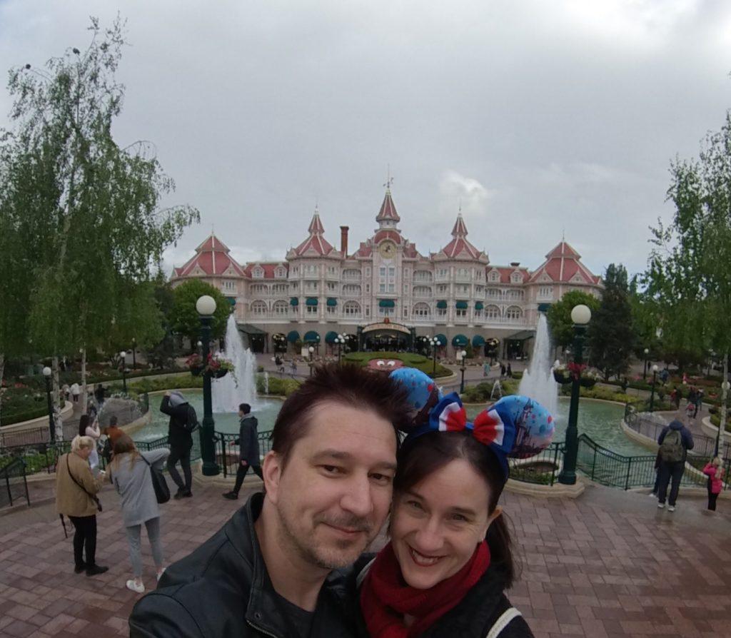 In front of the Paris Disney Hotel